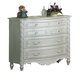 Acme Pearl 4-Drawer Single Dresser in Pearl White 01015