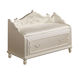 Acme Pearl Storage Bench in Pearl White 01021