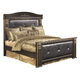 Coal Creek King Mansion Bed in Dark Brown