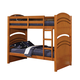 Acme Deco Twin Over Twin Bunk Bed in Oak 01150