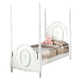 Acme Flora Twin Poster Bed in White 01660T