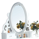 Acme Flora Jewelry Mirror in White 01664