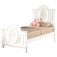 Acme Flora Full Panel Bed in White 01677F