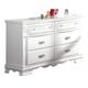 Acme Flora 6-Drawer Dresser in White 01685