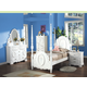 Acme Flora Poster Bedroom Set in White