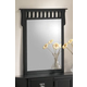 Acme Ridgeville Mirror in Black 01764