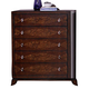 Homelegance Lakeside Chest in Warm Brown Cherry 846-9