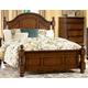 Homelegance Langston King Poster Bed in Brown Cherry 1746K-1EK