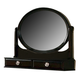 Acme Amherst Rotating Mirror with Jewelry Boxes in Espresso 01794