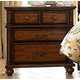 Homelegance Langston Nightstand in Brown Cherry 1746-4