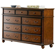 Homelegance Langston Dresser in Brown Cherry 1746-5
