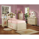 Acme Doll House Bookcase Bedroom Set in Cream