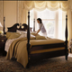 Kincaid Carriage House Solid Wood King Broken Pediment Poster Bed 60-136P