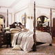 Kincaid Carriage House Solid Wood King Broken Pediment Rice Poster Bed 60-138P