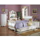 Acme Pearl Sleigh Bedroom Set in Pearl White