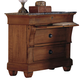 Kincaid Tuscano Solid Wood Bedside Chest with Marble Top 96-142M