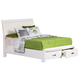 Homelegance Lyric California King Platform Bed in White 1737KW-1CK