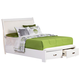 Homelegance Lyric Queen Platform Bed in White 1737W-1