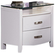 Homelegance Lyric Nightstand in White 1737W-4