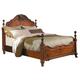 Homelegance Madaleine King Poster Bed in Warm Cherry 1385K-1EK