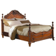 Homelegance Madaleine Queen Poster Bed in Warm Cherry 1385-1