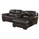 Jackson Lawson 3 Piece Sectional (LSF Loveseat-Console w/ Entertainment-RSF Chaise) in Godiva