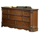 Homelegance Montrose Dresser in Brown Cherry 1749-5