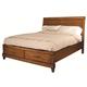 Aspenhome Tamarind Queen Sleigh Storage Bed in Chutney