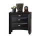 Acme Ireland 3-Drawer Nightstand in Black with Pull-out Tray 04163