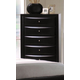 Acme Ireland 5-Drawer Chest in Black 04166