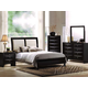 Acme Ireland Bycast Platform Bedroom Set in Black with white Headboard