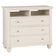 Aspenhome Cambridge Entertainment Chest in Eggshell ICB-485-EGG