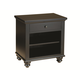 Aspenhome Cambridge One Drawer Nightstand in Black ICB-451-BLK