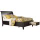 Aspenhome Cambridge Queen Sleigh Storage Bed in Black