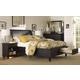 Aspenhome Cambridge Sleigh Storage Bedroom Set in Black