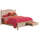 Aspenhome Cambridge Eastern King Panel Storage Bed in Eggshell