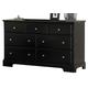 Homelegance Morelle Dresser in Black 1356BK-5