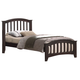Acme San Marino Twin Slat Bed in Dark Walnut 04980T