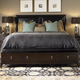 Kincaid Alston Solid Wood Low Profile Bedroom Set with Storage Bench Footboard