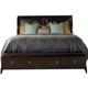 Kincaid Alston Solid Wood King Low Profile Bed with Storage Bench Footboard