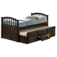 Acme San Marino Twin Captain Storage Bed with Trundle in Dark Walnut 04990T