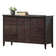 Acme San Marino Youth 9-Drawer Dresser in Dark Walnut 04998