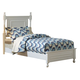 Homelegance Morelle Twin Poster Bed in White 1356TW-1