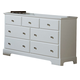 Homelegance Morelle Dresser in White 1356W-5