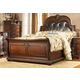 Homelegance Palace Queen Sleigh Bed in Rich Brown 1394-1