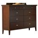Homelegance Pasadena Dresser in Brown Cherry 1475-5