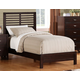 Homelegance Paula II Twin Panel Bed in Dark Cherry 1348TDC-1