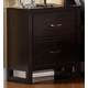 Homelegance Paula II Nightstand in Dark Cherry 1348DC-4