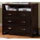 Homelegance Paula II TV Chest in Dark Cherry 1348DC-11