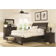 Aspenhome Bayfield Sleigh Storage Bedroom Set in Dark Mahogany